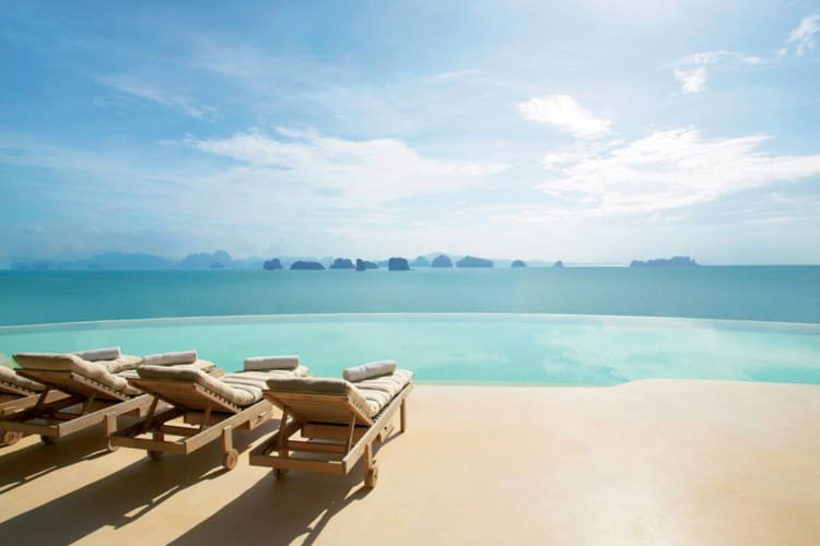 The main pool at Six Senses Yao Noi